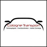 Das Logo der Firma Cologne Transport, Partner von aloove. Es zeigt den Umriss eines PKWs von Vorne, in schwarz. Darunter ist der Schriftzug Cologne Transport in rot zu sehen. Ein Subtitle ist in schwarz darunter zu sehen.